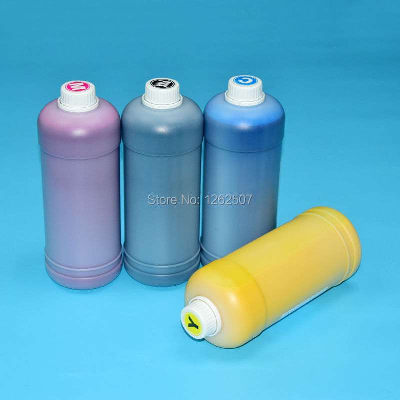 Sjic22p 1Liters x 4colors Waterproof Pigment inks For Epson Colorwork TM-C3500 C3510 C3520 color lables Printer continuous ink supply system ciss system sjic22p c3500 3510 3520 for epson colorwork tm c3500 c3510 c3520 color lables printer
