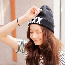 Южной кореи новый оригинальный прекрасный KKXX буквы sharp топ хип-хоп вязание шерсть шляпы дамской одежды осень зима теплая шапка