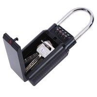 4 Digit Combination Password Safety Key Security Door Box Lock Padlock Zinc Alloy Storage Keys