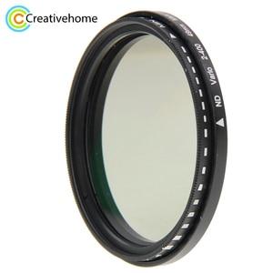 Image 1 - 49 ミリメートル ND レンズフィルターフェーダー減光調整可能な ND2 に ND400 可変フィルタ