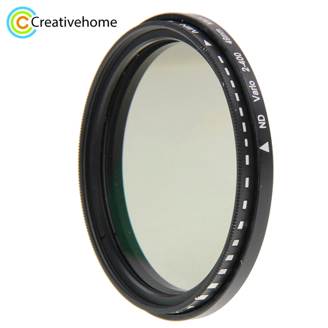 49 ミリメートル ND レンズフィルターフェーダー減光調整可能な ND2 に ND400 可変フィルタ