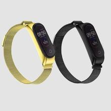 For Xiaomi Mi Band 4 Replacement Sport Magnetic Item Strap Metal Wristband Bracelet Two-Tone