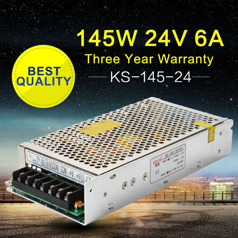AC DC 24V Power Supply DC24V 145W Switching Power Supply Driver for LED Strip Light Radio CNC High Efficiency Retail/Wholesale 24v 20a power supply adapter ac 96v 240v transformer dc 24v 500w led driver ac dc switching power supply for led strip motor