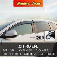 Window Visor Vent Sun Rain Deflector Guard For CITROEN C2 CROSS C4L C4 Aircross C Elysee C Quatre C3XR C5 AIRCROSS C4 C Quatre