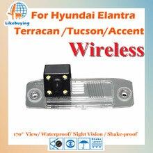 Беспроводной 1/4 Цвет ПЗС заднего вида Камера для Hyundai Elantra/Terracan/Tucson/Акцент Ночное видение/170 градусов вид
