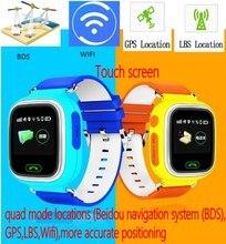 """2016 Kids Safe Q90 GPS de suivi Montres écran tactile 1.22 """"montre-bracelet G72 SOS Appel Finder Locator Tracker pour Enfant Anti Perdu"""