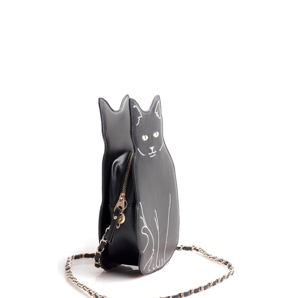 c4ae3dd230a New BLACK CAT novelty crossbody chain bag Women's Girl Street Fashion  Animal Cute Cool Unique Fun Cross Body Purse Messenger Bag-in Top-Handle  Bags from ...