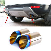 2pcs Blue Tail Tthroat Exhaust Pipe For Land Rover Discovery Sport 2015