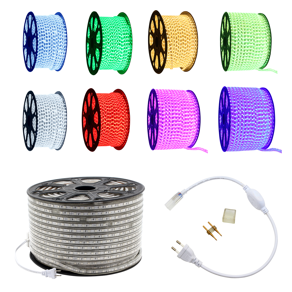 220V 50M LED Strip Light 60 LEDs/ meter IP67 Waterproof Ultra Bright Flexible 5050 SMD LED Outdoor Garden Home Strip Rope Light sales of new sensor light strip with high quality and convenient multi functional 3w 6w outdoor home decor led strip light lamps