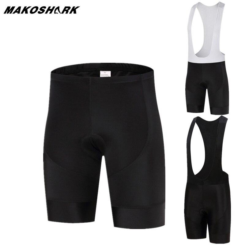 MAKOSHARK New Summer 9D Gel Pad Bib Road Bike Bicycle Short Breathable Anti-skid 100% Lycra High Elastic Cycling Shorts