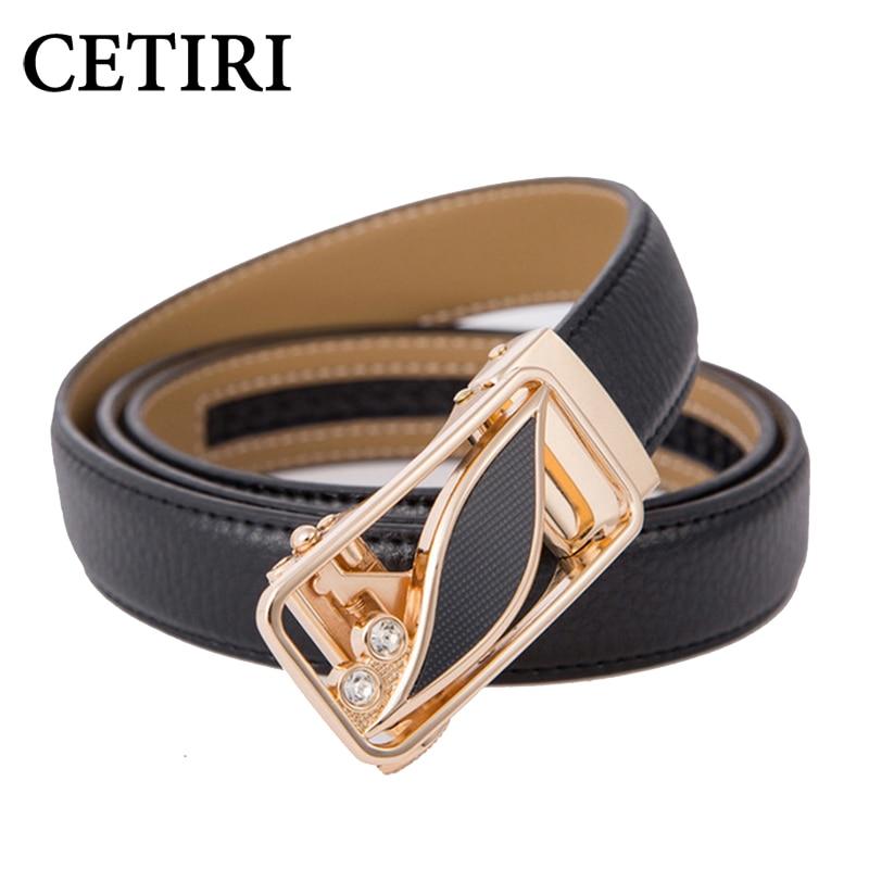 CETIRI 24 Style Fashion Leaf Automatisk Buckle Bælte Kvinder High Quality Leather Bælter Kvinder Strap Waist Plus Størrelse 90-120cm Bælter