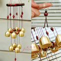 Copper bell ornaments door trim garden Fengshui bell copper bell chimes pendant jewelry metal tube Japanese door bells