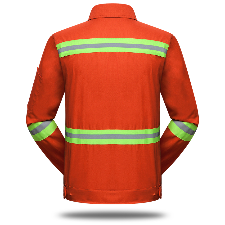 Wholesale Sanitation Service Unisex Work Wear Set Protective Clothing Men Reflrectors Orange Coat Pants Engineering Service Sets