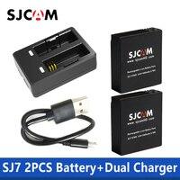 100% оригинал SJCAM SJ7 звезда двойное зарядное устройство + 2 шт SJCAM батареи 1000 mAh литий-ионная аккумуляторная батарея для SJCam SJ7 экшн-камеры