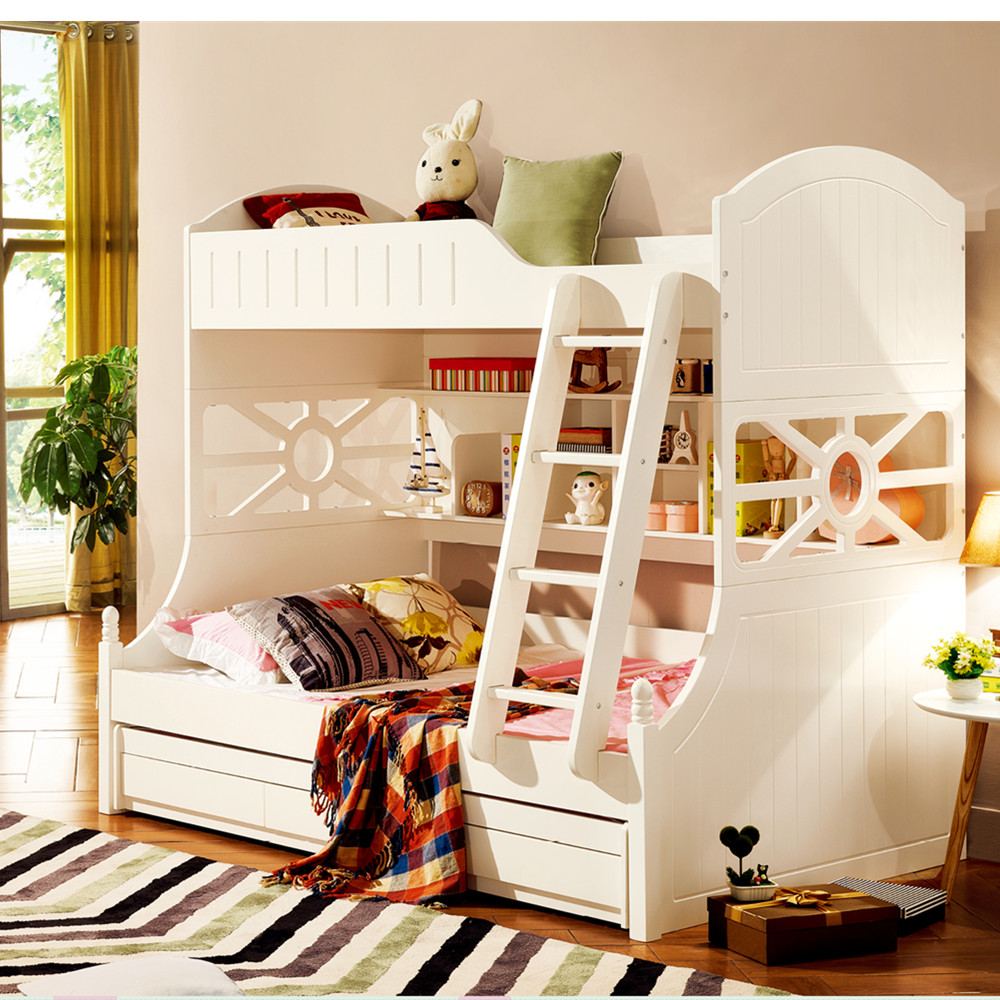 US $1299.0 |2018 new fashion high quality 6 15 years old boy and girl  children bedroom furniture sets-in Bedroom Sets from Furniture on AliExpress