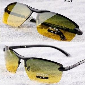 Image 2 - Gündüz Gece Görüş Polarize Gözlük Çok Fonksiyonlu erkek Polarize Güneş Gözlüğü Parlama Azaltmak Sürüş Güneş Cam Gözlük Gözlük de sol