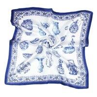 100% натуральный шелк для женщин шарф ПР печати 53x53 см квадратный платок бренд лето стюардесса стиль распродажа, бесплатная доставка