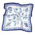100% REAL SILK women SCARF OL print 53x53cm Square kerchief Brand Summer Stewardess style SALE Free shipping