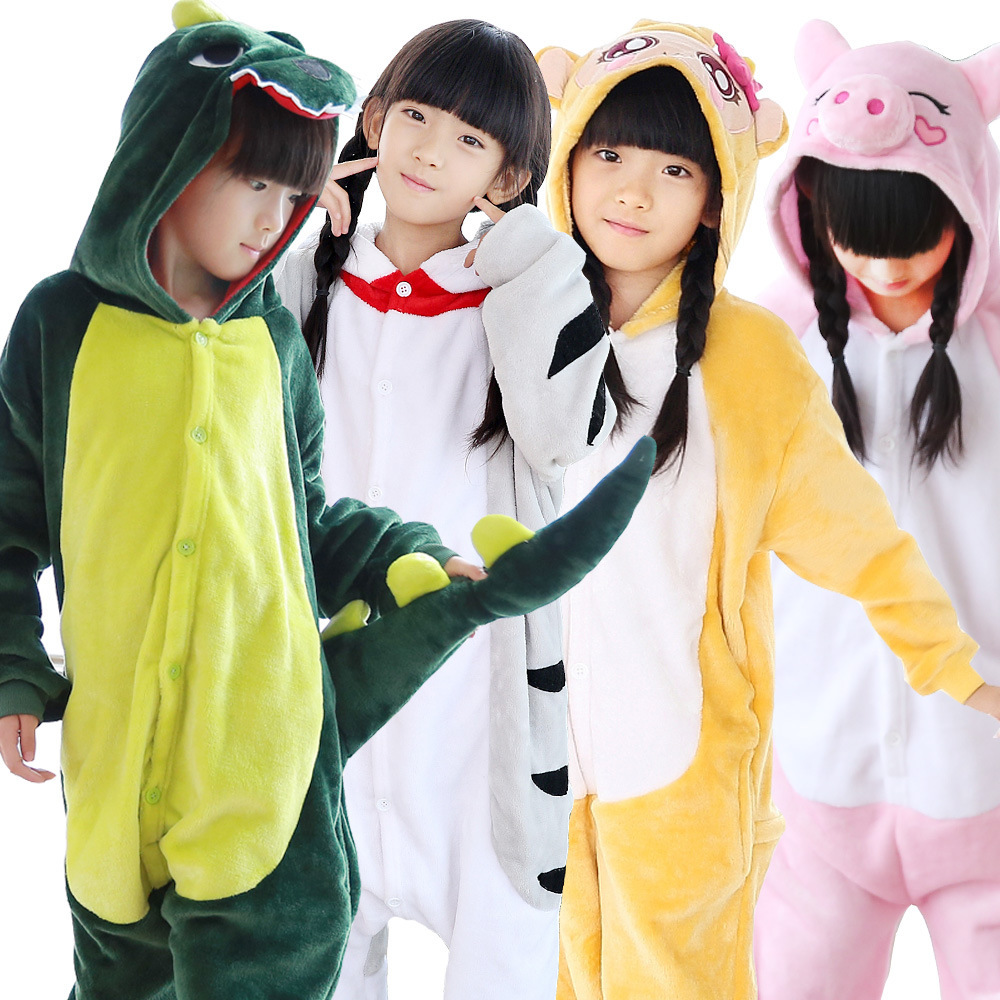 Children Pokemon Pikachu Animal Dinosaur Blue Stitch Jumpsuit Pijama Kids Kigurumi Sleepwear Onesies Girls Boys Sleepers Pajamas