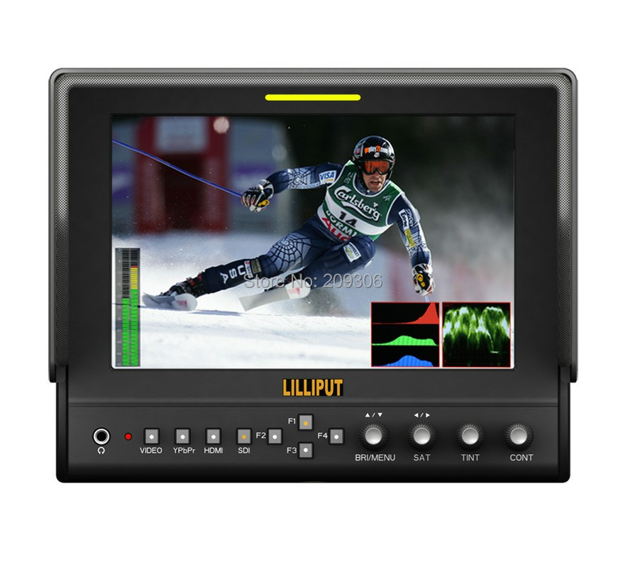 LILLIPUT 663/S2 7 LED IPS 3G-SDI field monitor with advanced functions for DSLR Full HD camcorder SDI monitor HDMI monitor