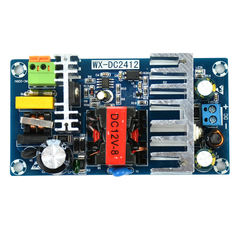1Pc 100W Switching Power Supply Module AC 85-265V 50 60HZ TO DC12V 8A Board hzdz switching power supply module green 85 265v 5v 700ma