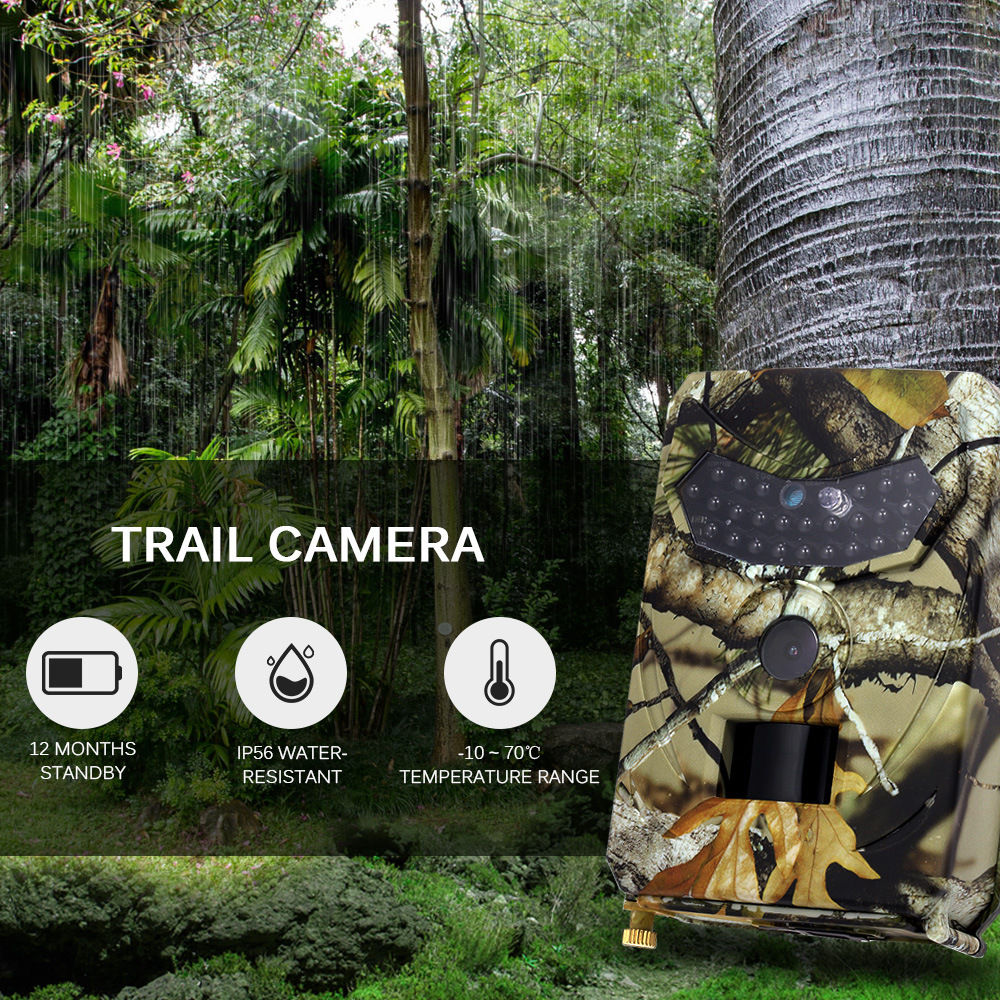 Trail Game Camera 1080P 12MP IP56 Waterproof Wildlife Camera Motion 940nm IR Night Vision for Wildlife Hunting and Home Security image