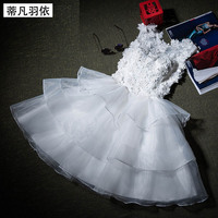 Robe De Mariage Graceful Wedding Dress Handwork Flowers Ball Gown Tiered Short Vestido De Noiva 2017