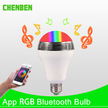 Smart LED Bulb E27 Lamp 12W RGB Bluetooth Speaker Bulbs Dimmable LED Light Timing Function WIFI APP Remote Control for Home