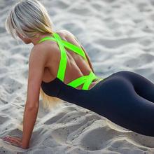 Elasticity Running Fitness Jumpsuit Rompers 2016 Sport Skinny Bodysuit Fashion Bandage Slim Playsuit Women Plus Size