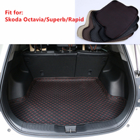 5 colors Custom Fit Car Rear Trunk Mat For Skoda Superb Octavia Rapid 2015 2016 2017 2019 Cargo Tray Boot Liner Carpet