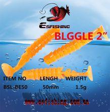 Fishing Lures Soft lure 10pcs 5cm/1.5g Esfishing Blggle 2″Salt Water Swimbait Tackle Isca Bass Carp Trout Fishing Trolls