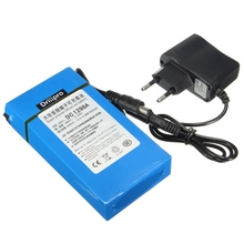 DC 12V 3000 9800mAh Super Powerful Rechargeable Li ion Lithium Batterie Chargeur EU US Plug