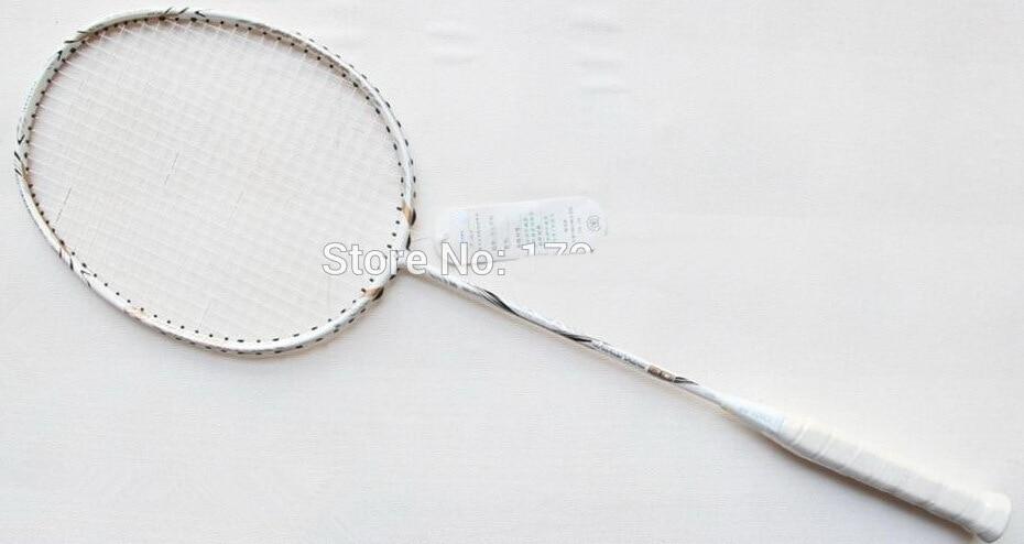 Hot VOLTRIC 80 White Carbon badminton racket VT 80 Badminton Racket