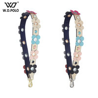WDPOLO New Flower Design Leather Women Bags Strap Chic Handle For Women Bag Belts Trendy Bag Accessories B360