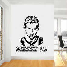 цена на Famous Football Player Wall Sticker Vinyl Art Removable Poster Mural Boys  Bedroom Decoration Design Decals W296
