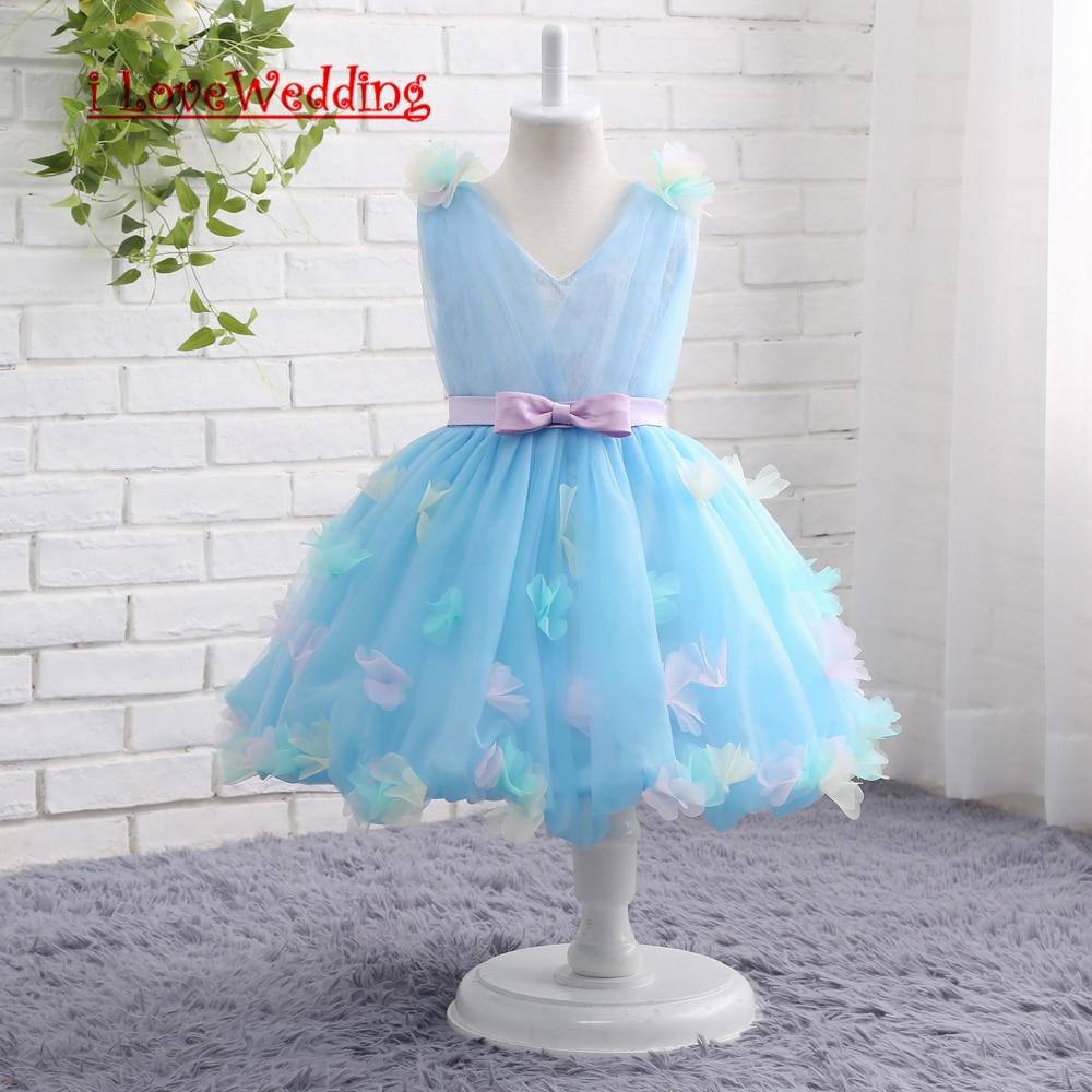 iLoveWedding Stock New Blue Flower Girl Dresses For Wedding Pageant ...