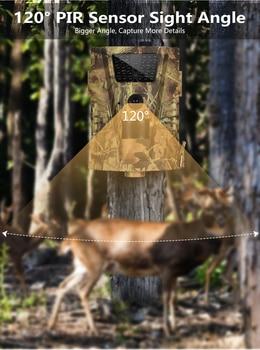 Wildlife Trail Camera HT001B Infrared Night Vision Hunting Cameras 12MP Outdoor Wild Surveillance Tracking 4