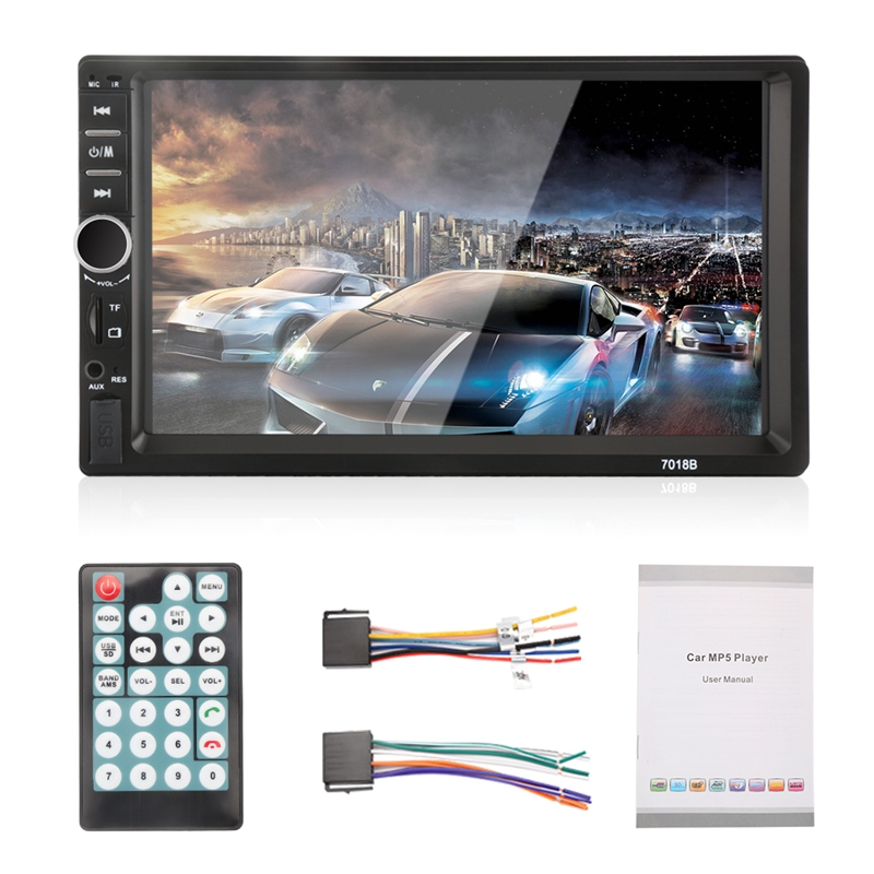 цена на 7018B Universal 7 Inch 2 DIN Car Audio Stereo Player Touch Screen Car Video MP5 Player Support Bluetooth TF SD MMC USB FM Radio