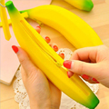 1 pc Unisex Men Women Girls silicone coin purse Portable fruits Banana 3D printing coin bag Pencil Pen Case Purse Bag Wallet