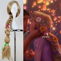 "Princess Tangled Rapunzel 110cm 43.34"" Long Straight Braid Cosplay Wigs for Women Girls Anime Costume Party Synthetic Wig Blond"