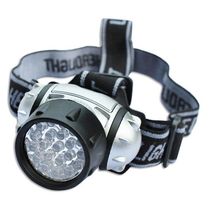 Yürüyüş Kamp Su Geçirmez 19 LED Far Parlak El Feneri Torch Lamba Işık linterna frontal