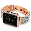 Luxe Vrouwen Armband Horlogebanden Rose Gouden Armband Strap Voor Apple Horloge Band 42mm/38mm iwatch Serie 3 /2/1 mannen Riem