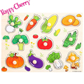 Happy Cherry Children Colorful Wood Grasp Knob Recognition Puzzle Educational Toys for Baby Kids 4 Styles Optional