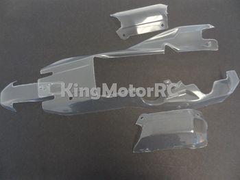 King Motor Clear Pre-Cut 4 Piece Body Kit Fits HPI Baja 5B 2.0 SS Rovan Buggy