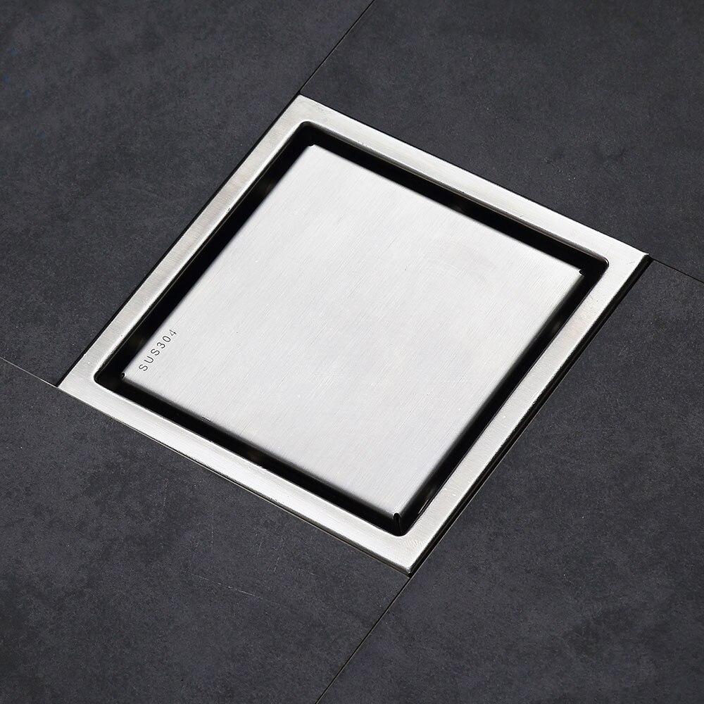 Stainless Steel Tile Insert Square Floor Waste Grates Bathroom Shower Drain Floor Drain Antique Fltro Ducha Drain Hair Invisible