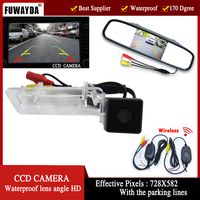 FUWAYDA Wirelelss Auto Assistance CCD car Rear view camera with 4.3inch Color LCD view Monitor for Merecedes Benz SMART R300/350