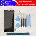 100% original blackview bv5000 display lcd + touch screen 1280x720 5.0 de polegada de montagem para blackview bv5000 + ferramentas