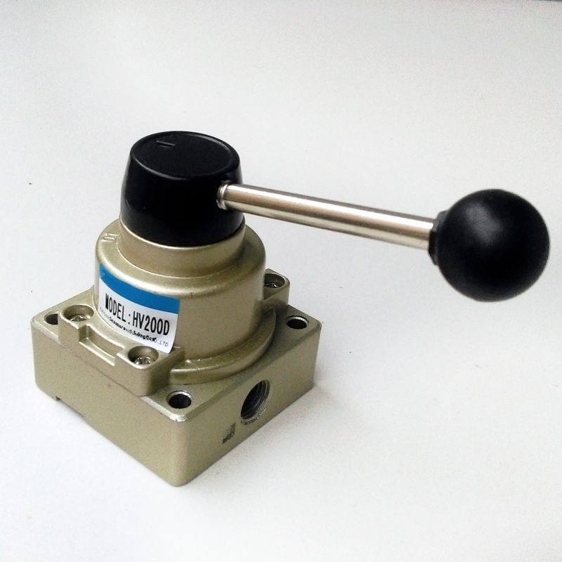 HV-200D 1/4'' Manual Operated Valve Pneumatic Hand Switch Valve