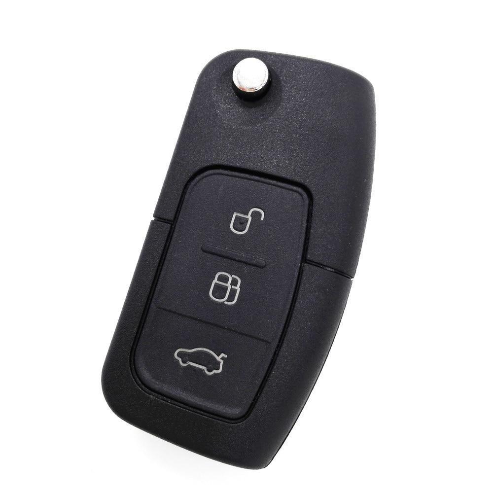 3 Button Flip Folding Remote Key Fob Case for FORD Focus Fiesta C Max Car Key