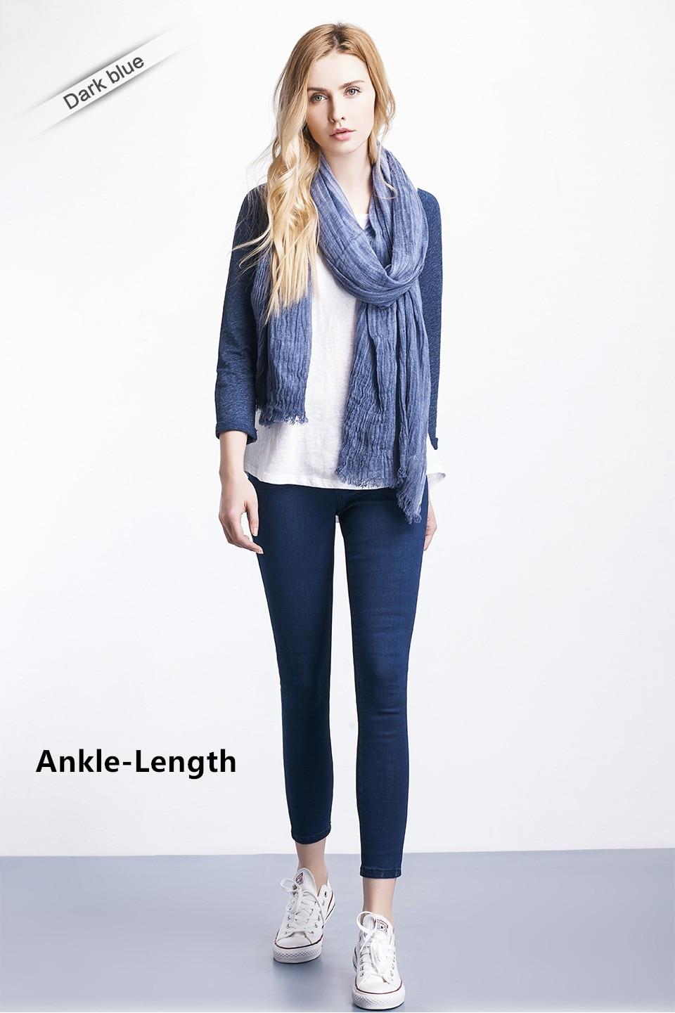 Women Plus Size Casual Slim Stretch Cotton Denim Jeans Blue black 16